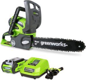 Greenworks G-MAX منشار كهربائي شحن لتقطيع الاشجار